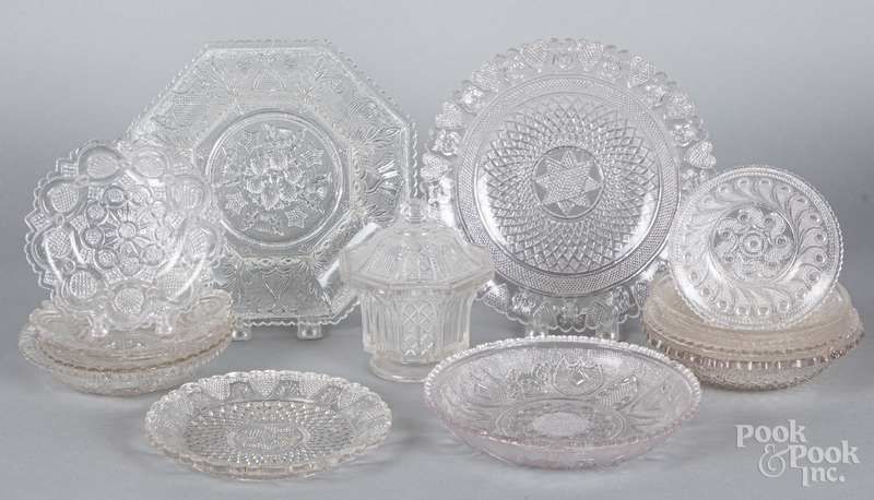 Colorless lacy glass