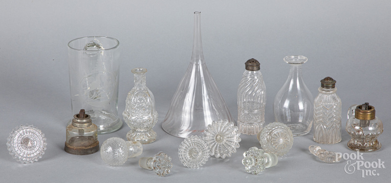 Group of early colorless glass