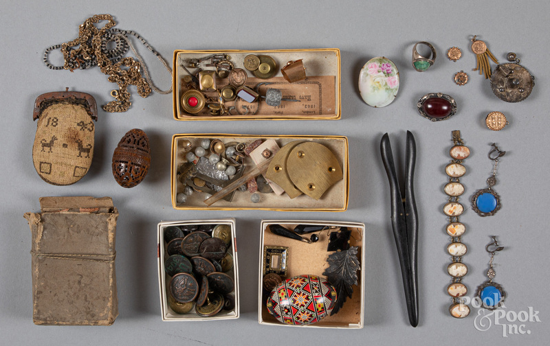 Early jewelry, buttons, etc.