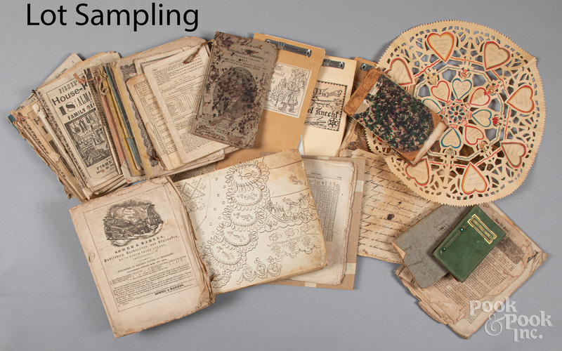 Ephemera, to include a quilt pattern book, etc.