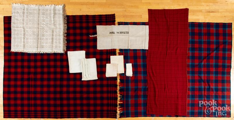 Wool coverlets, etc.