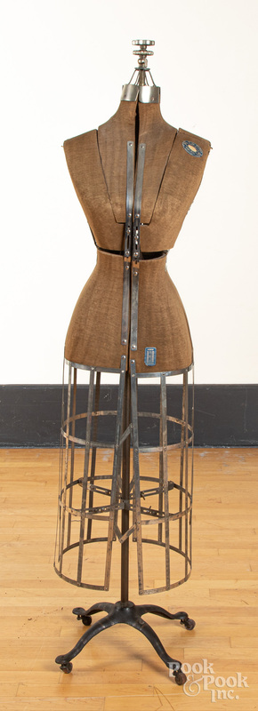 L & M adjustable dress-form mannequin, ca. 1900