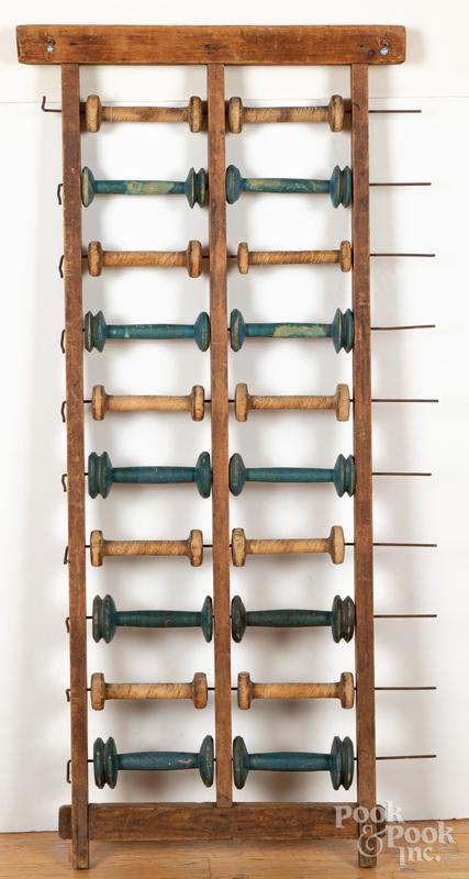 Pine spool rack