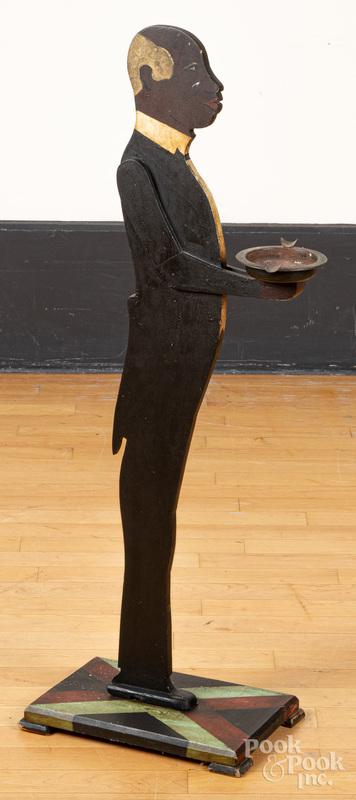 Black Americana bellhop butler smoking stand