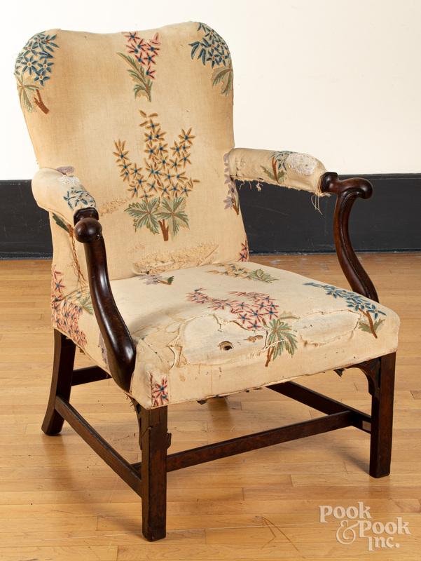 George III mahogany open armchair, ca. 1770
