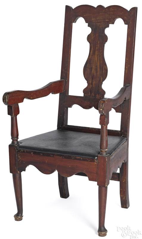 Pennsylvania Queen Anne walnut armchair