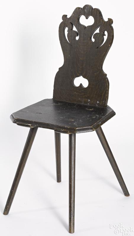 Pennsylvania Moravian Brettstuhl chair