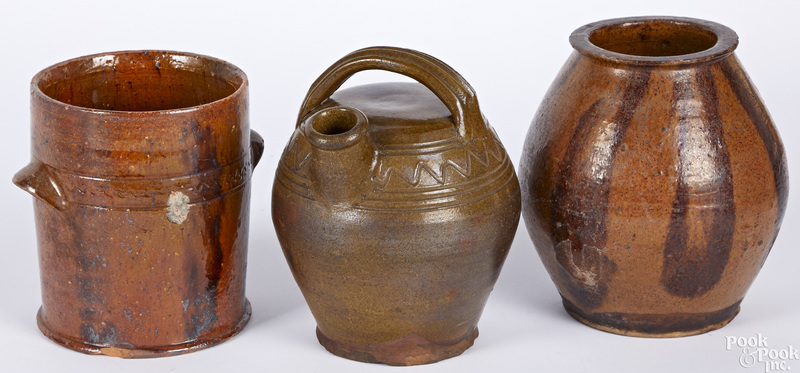 Three pieces of redware