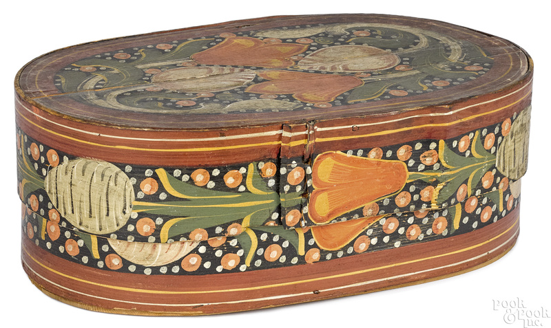 Painted bentwood brides box