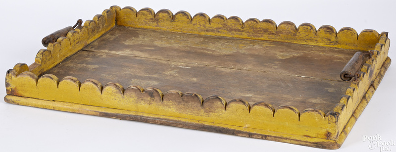 Painted pine tray
