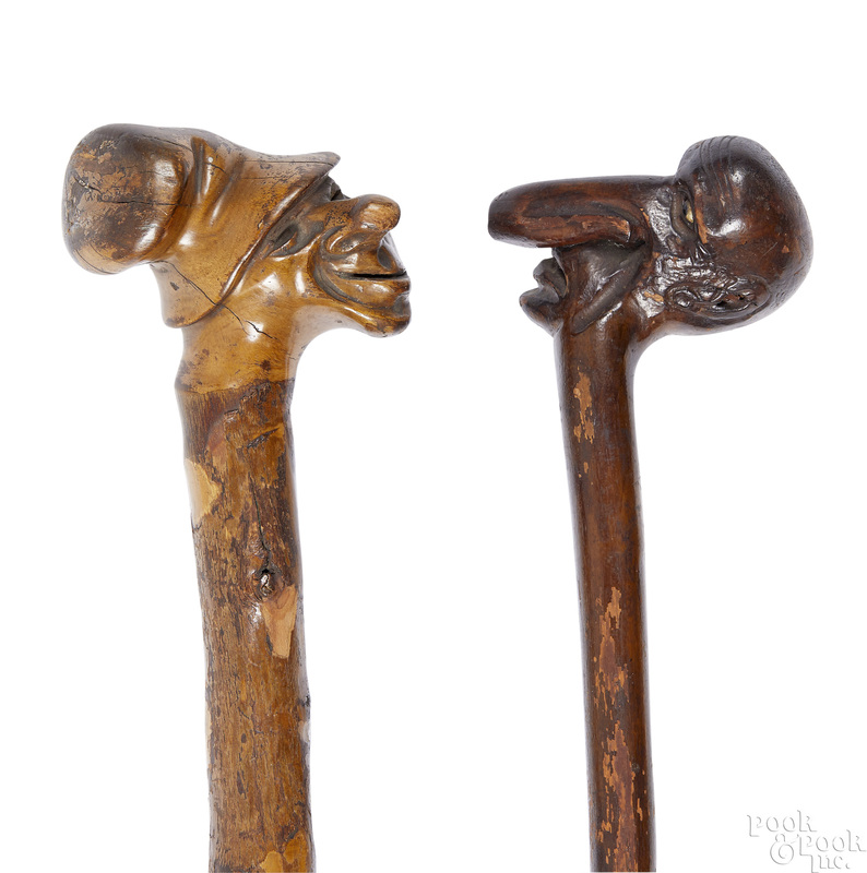 Two carved canes