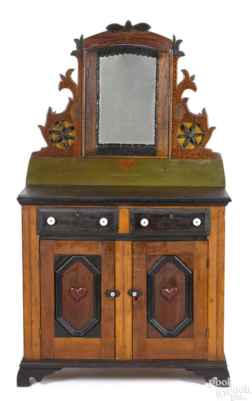 Pennsylvania painted folk art dresser