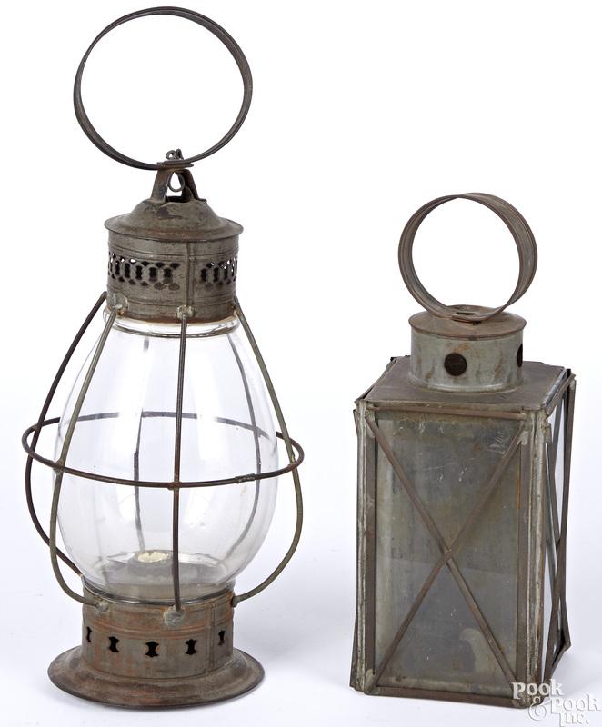 Two tin lanterns
