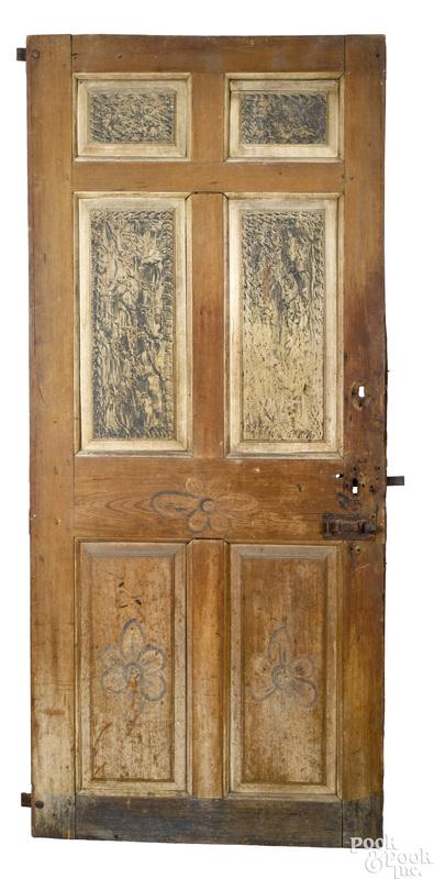 Pennsylvania painted pine raised panel door