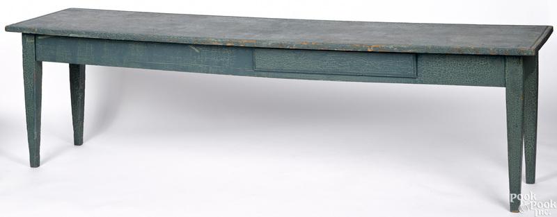 Unusual painted pine low table