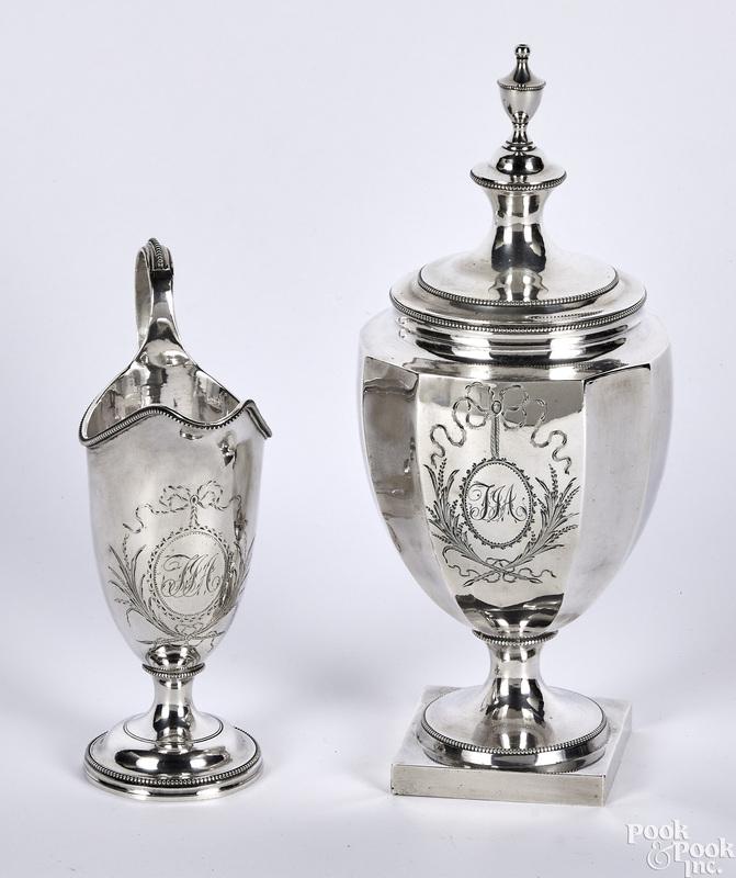 Philadelphia coin silver covered sugar, etc.