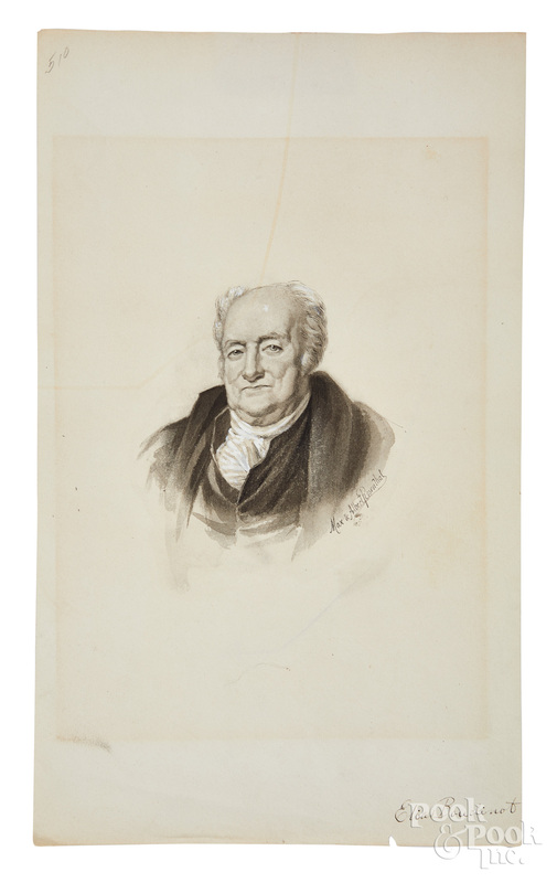 Albert Rosenthal watercolor of Elias Boudinart