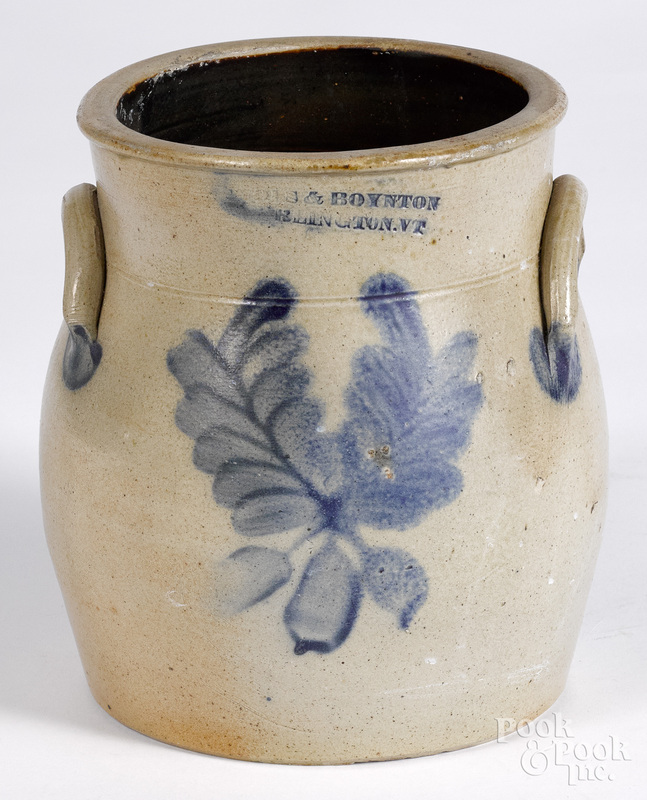Vermont stoneware crock, 19th c.