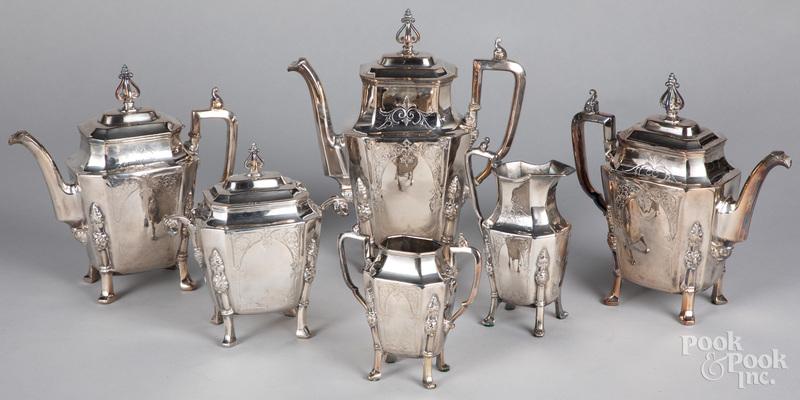 B.J. Mayo silver plated tea and coffee service