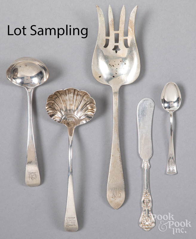 Sterling silver flatware and serving utensils