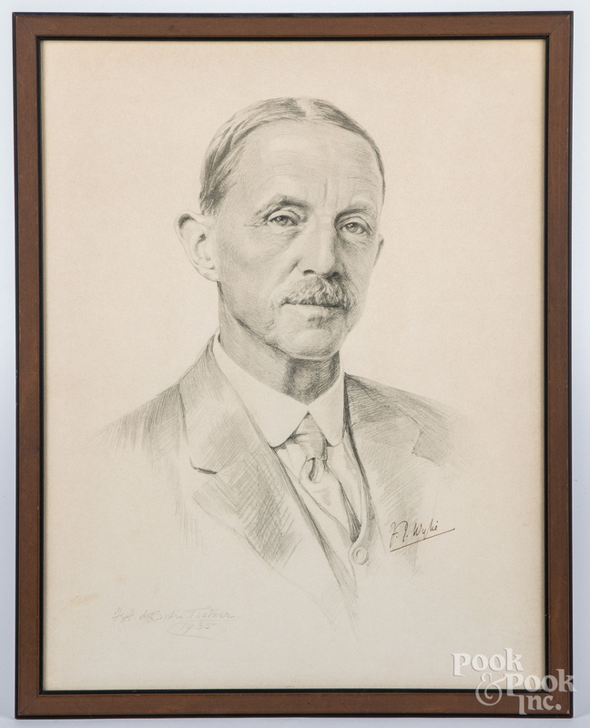 Frances Amicia de Biden Footner, pencil portrait
