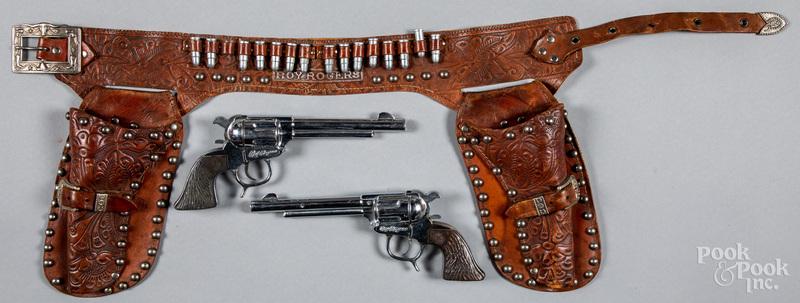 George Schmidt double set of Roy Rogers cap guns