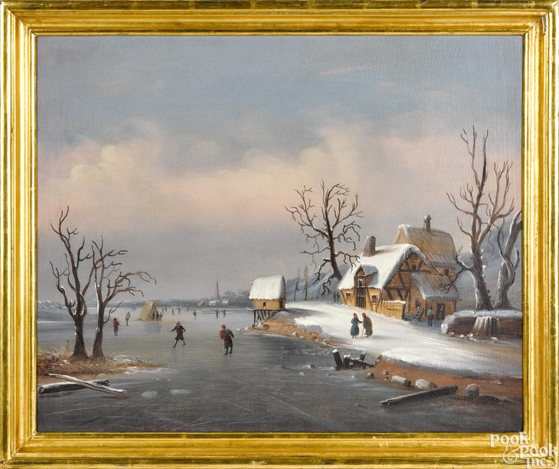 Attributed to William Mathew Prior winter scene