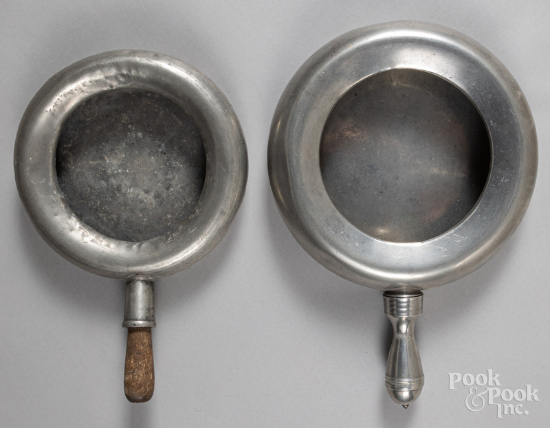Two pewter bedpans