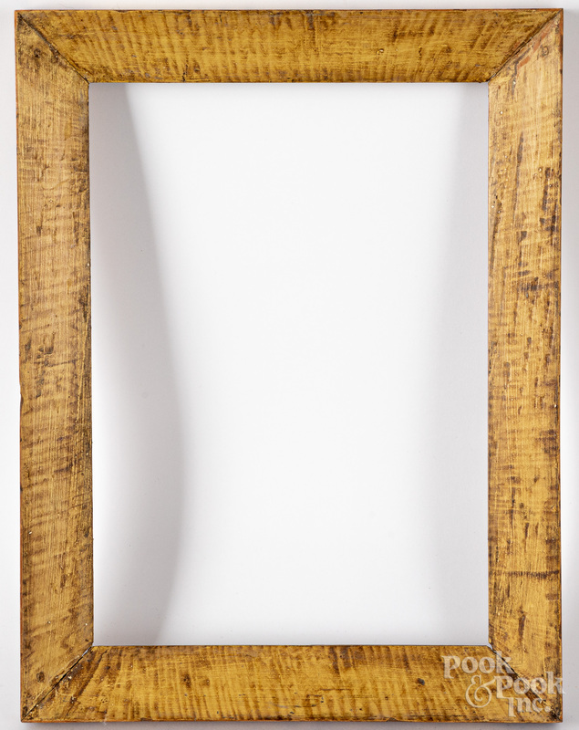 Five painted decorated frames