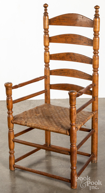 William and Mary ladderback armchair