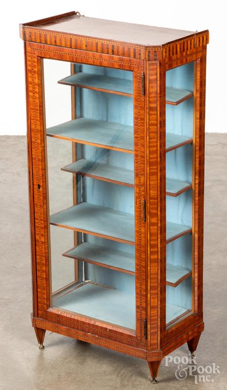 Small mahogany veneer display cabinet
