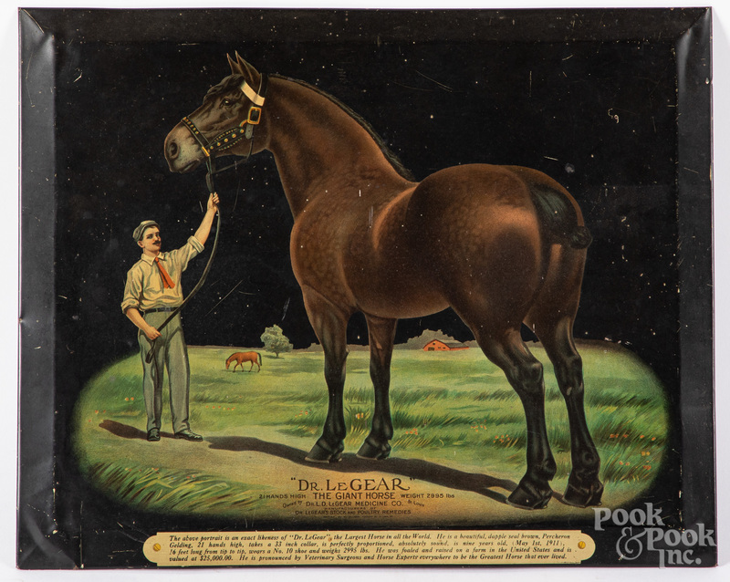 Dr. Le Gear tin lithograph advertising sign