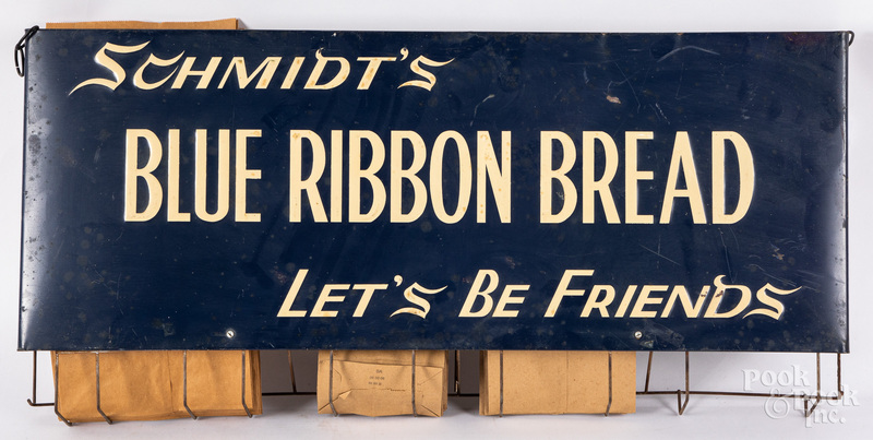 Schmidt's Blue Ribbon Bread tin bag holder