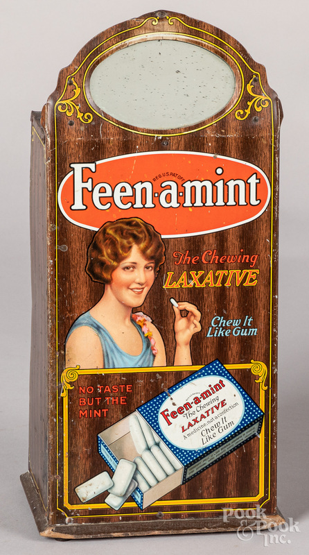 Feen-a-Mint Chewing Laxative tin store display