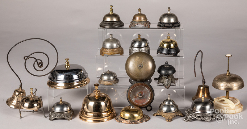 Collection of nineteen counter top and door bells