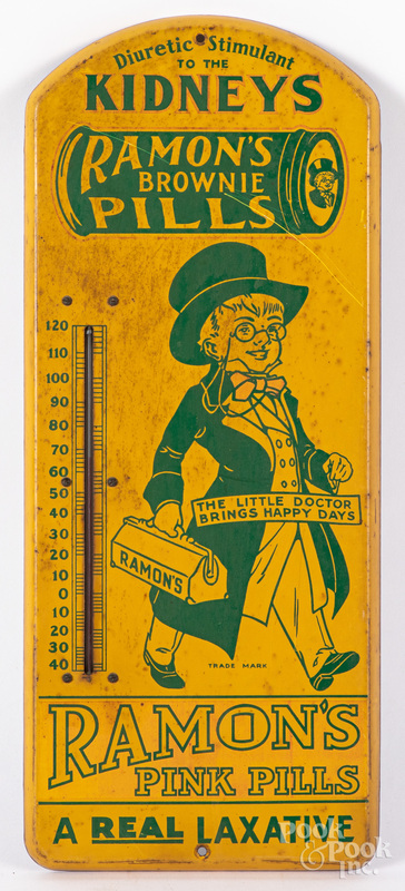 Ramon's Brownie/Pink Pills advertising thermometer