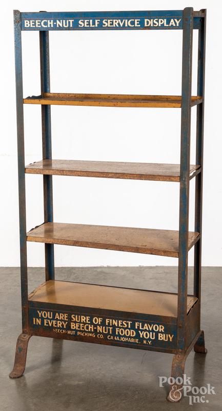 Beech-Nut metal advertising shelf display rack