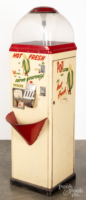 Pop Corn Hot Fresh coin operated vending machine