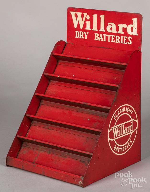 Willard Dry Flashlight Batteries tin store display