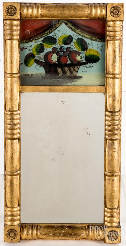 Sheraton giltwood mirror
