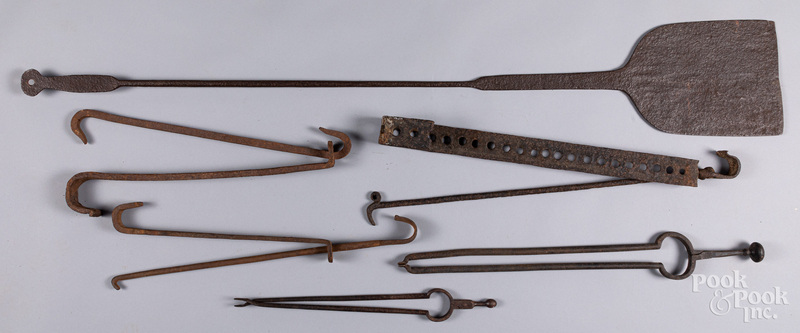 Group of wrought iron, 18th/19th c.