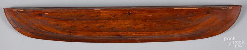 Half hull ship model, ca. 1900