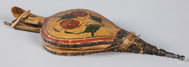 New England painted pine bellows, early 19th c.
