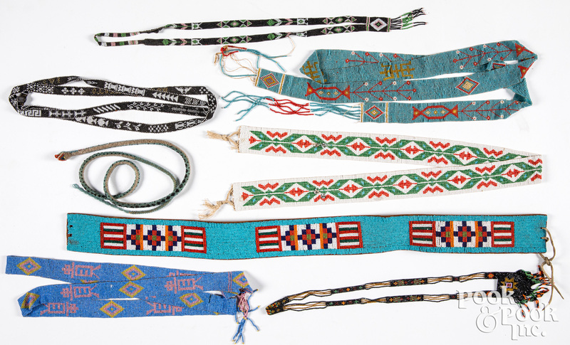 Vintage Native American beadwork, belt etc.