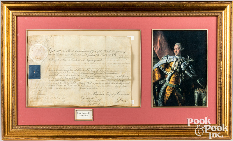 King George III signed vellum military appointment