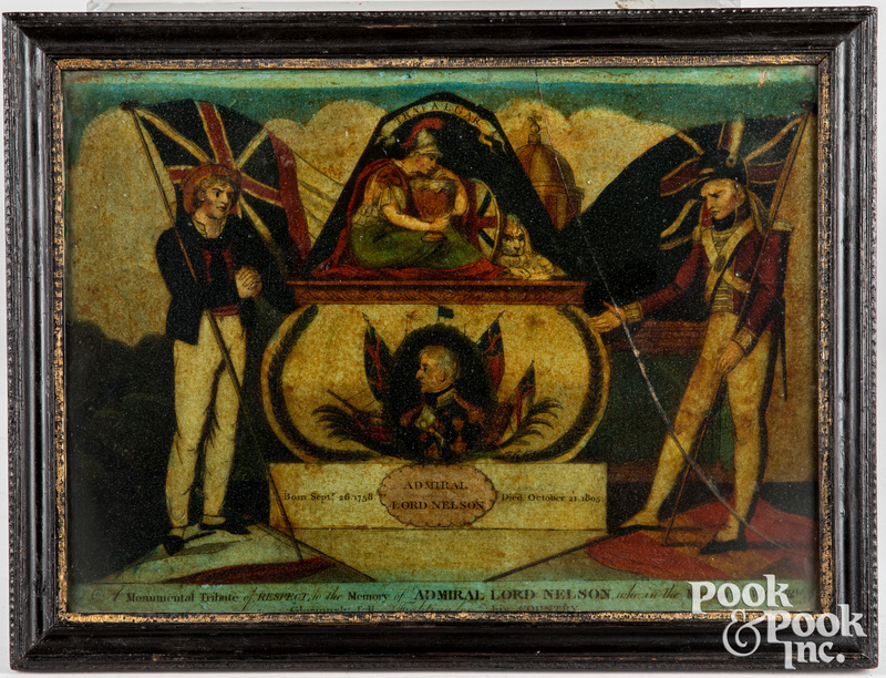 Reverse print on glass tribute Admiral Lord Nelson