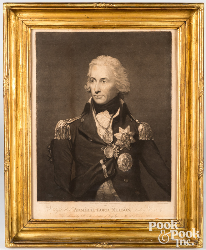 Admiral Lord Nelson mezzotint engraving