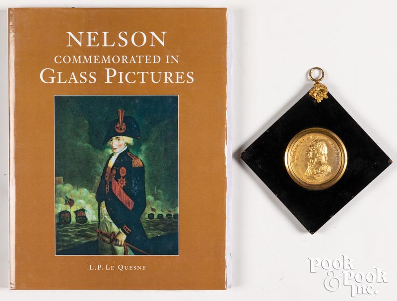 Admiral Lord Nelson gilt portrait medallion