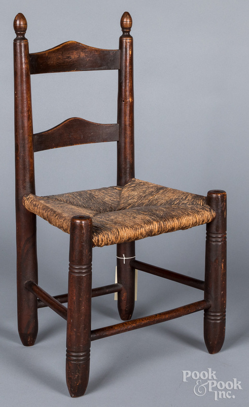 Child's ladderback chair, 19th c.