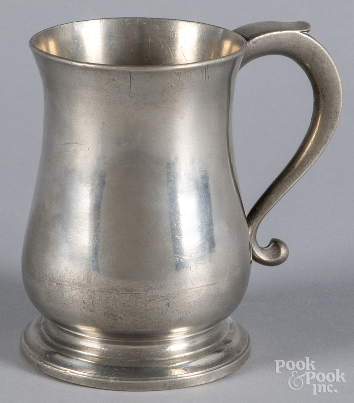 English pewter mug, by Townsend and Compton